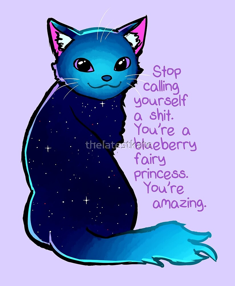 Quot Quot You Re A Blueberry Fairy Princess Quot Galaxy Cat Quot By