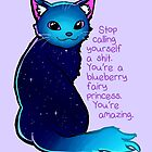 """You're A Blueberry Fairy Princess"" Galaxy Cat by thelatestkate"