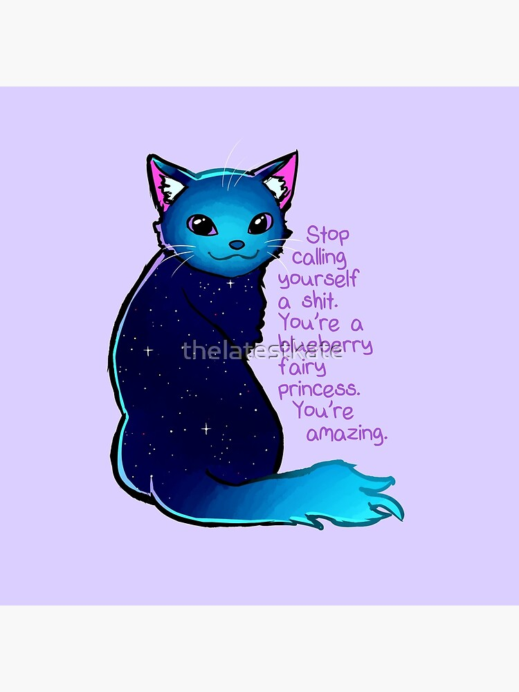 """""""You are A Blueberry Fairy Princess"""" Galaxy Cat de thelatestkate"""