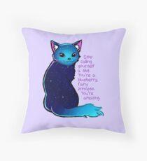 """""""Du bist eine Blueberry Fee Prinzessin"""" Galaxy Cat Dekokissen"""