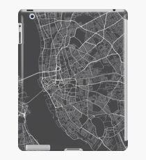 Liverpool Map, England - Gray iPad Case/Skin