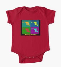 Colorful Maryland Pop Art Map Kids Clothes