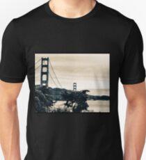 San Francisco Golden Gate Sepia  T-Shirt