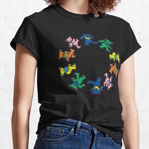 Colorful Dancing bears Grateful day Classic T-Shirt