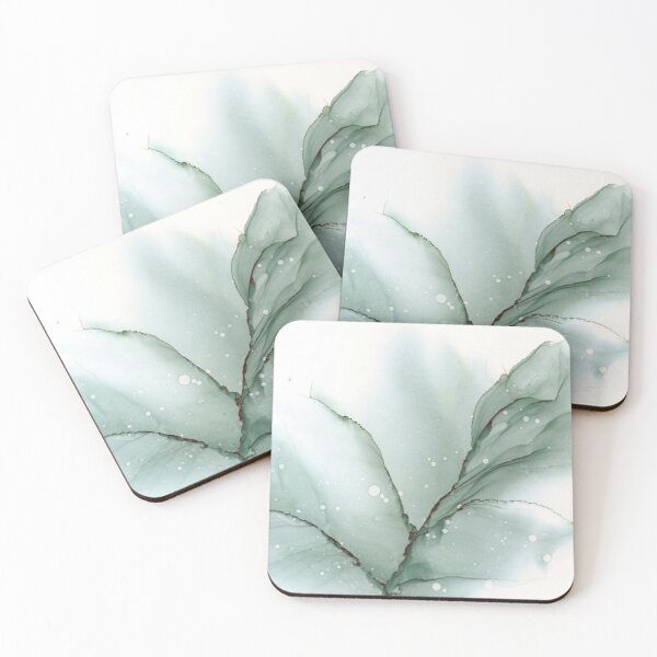 Silent - Mixed Media Art Coasters (Set of 4)