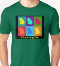 Colorful Georgia State Pop Art Map T-Shirt