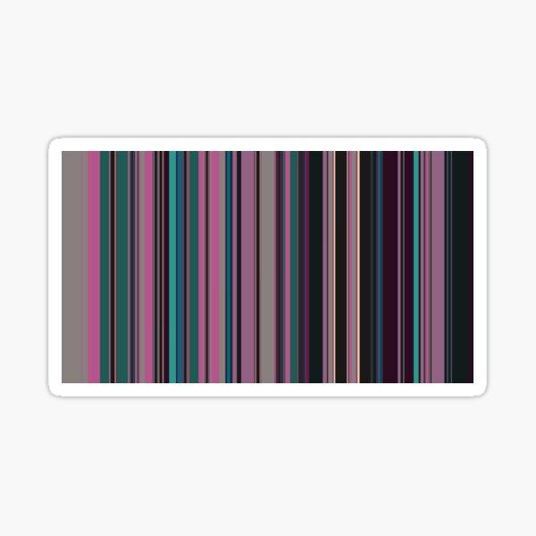 Multi Color Vertical Stripes 2 Sticker