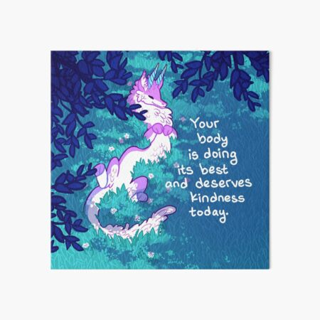 """""""Your Body is Doing its Best"""" Furry Forest Dragon Art Board Print"""