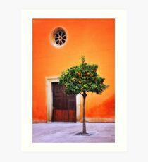 Orange Chapel Art Print