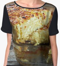 Macaroni with cheese, oven baked Women's Chiffon Top
