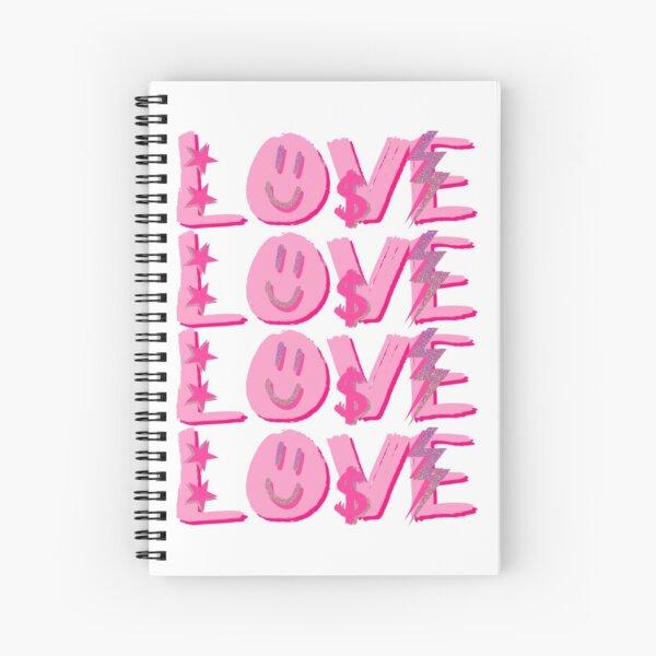 preppy LOVE Spiral Notebook