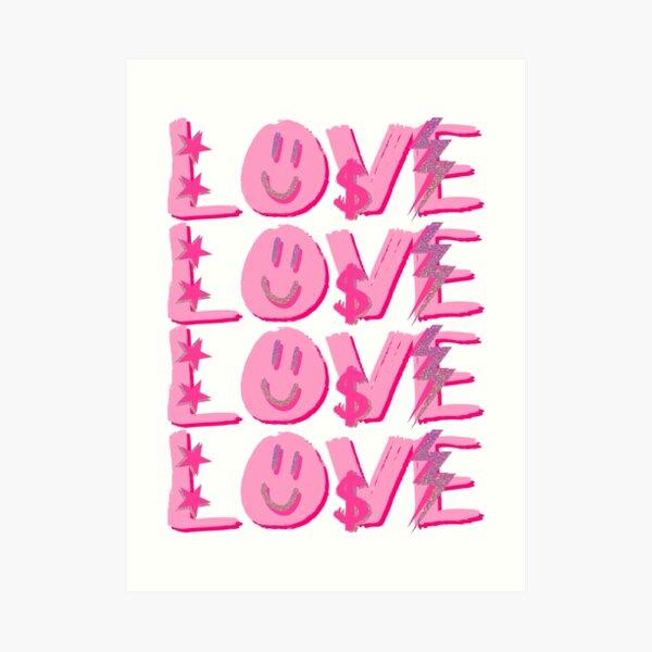 preppy LOVE Art Print