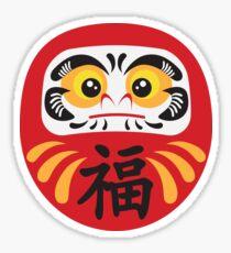 Japanese Daruma Doll Illustration Sticker