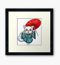 Chibi Kitsune Framed Print