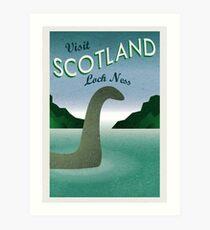 Besuchen Sie Loch Ness Kunstdruck