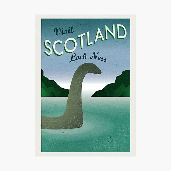 Visit Loch Ness Photographic Print