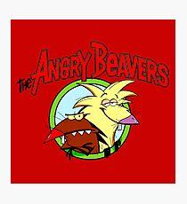 Angry Beavers Photographic Print