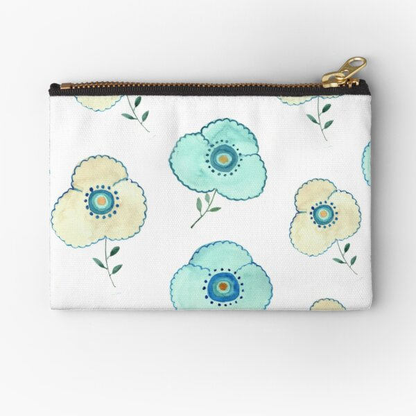 Try Dot Florals- Abstract Zipper Pouch