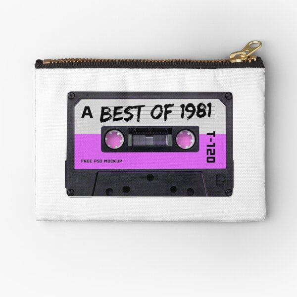 Vintage Best of 1981 40th Birthday 80s Cassette Tape Zipper Pouch