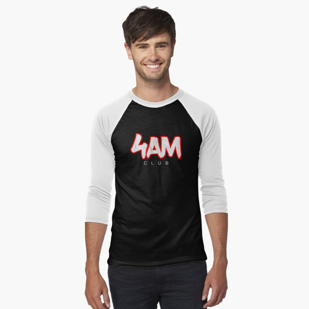 Morning Workout - Personal Trainer Fitness Coach - 4AM Club Baseball ¾ Sleeve T-Shirt
