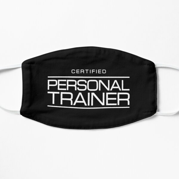 Health & Fitness Coach - Certified Personal Trainer Flat Mask