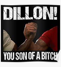 Schwarzenegger Dillon Predator Arm Wrestle  Poster