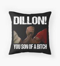 Schwarzenegger Dillon Predator Arm Wrestle  Throw Pillow