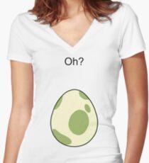 Pokemon GO Egg Oh? Women's Fitted V-Neck T-Shirt