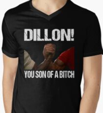 Schwarzenegger Dillon Predator Arm Wrestle  Men's V-Neck T-Shirt