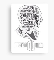 doctor who 9th doctor Canvas Print