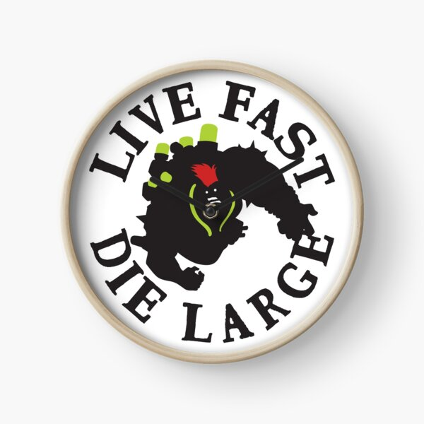 LIVE FAST DIE LARGE Clock