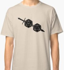 Dungeons And Dragons: The Dice And Sword Classic T-Shirt