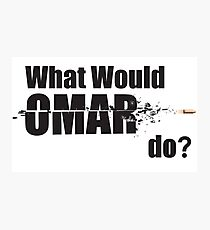 """What Would Omar Do? """"The Wire"""" Photographic Print"""