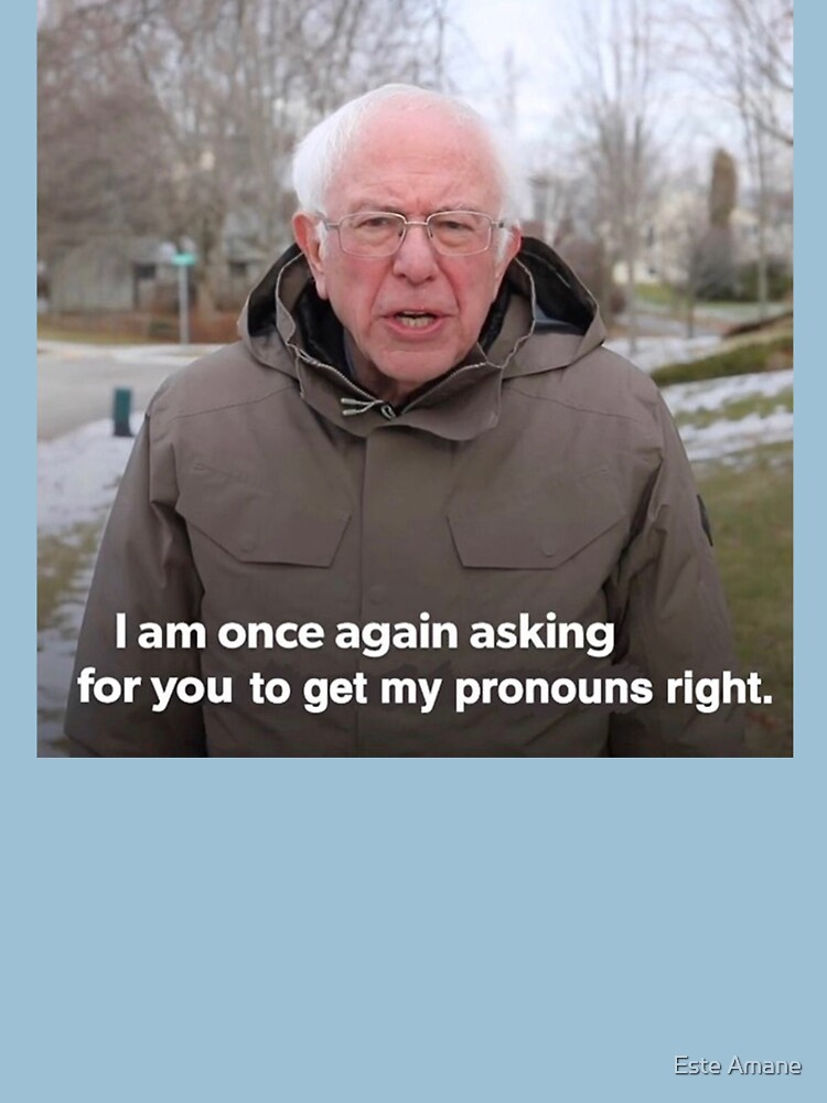 Bernie Sanders Meme - Get My Pronouns Right by madalynwilliams