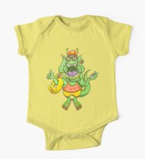 Cool monster rising its thumb to get a ride Kids Clothes