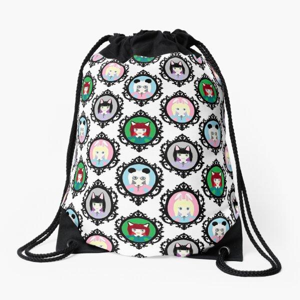 Kawaii Cosplay Girl - Bunny, Fox, Panda & Cat Drawstring Bag