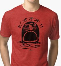 Laboon One Piece - The whale on the red line Tri-blend T-Shirt