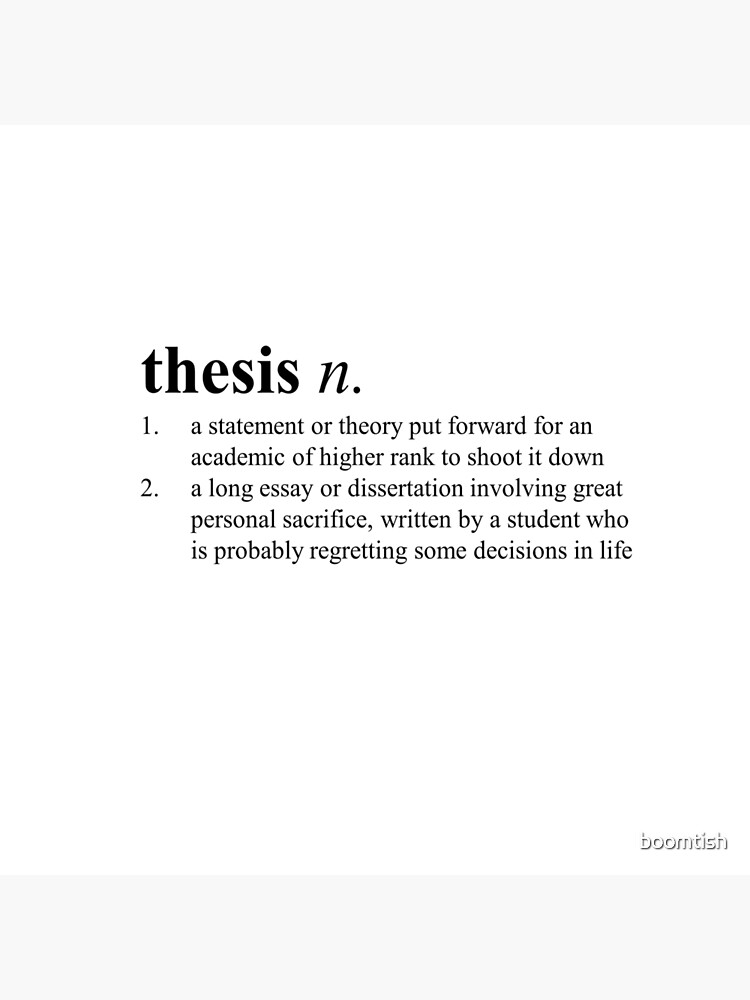 Thesis defintion research essay proposal