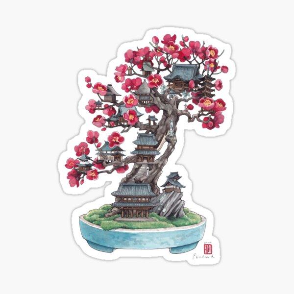 Bonsai Plum Sticker