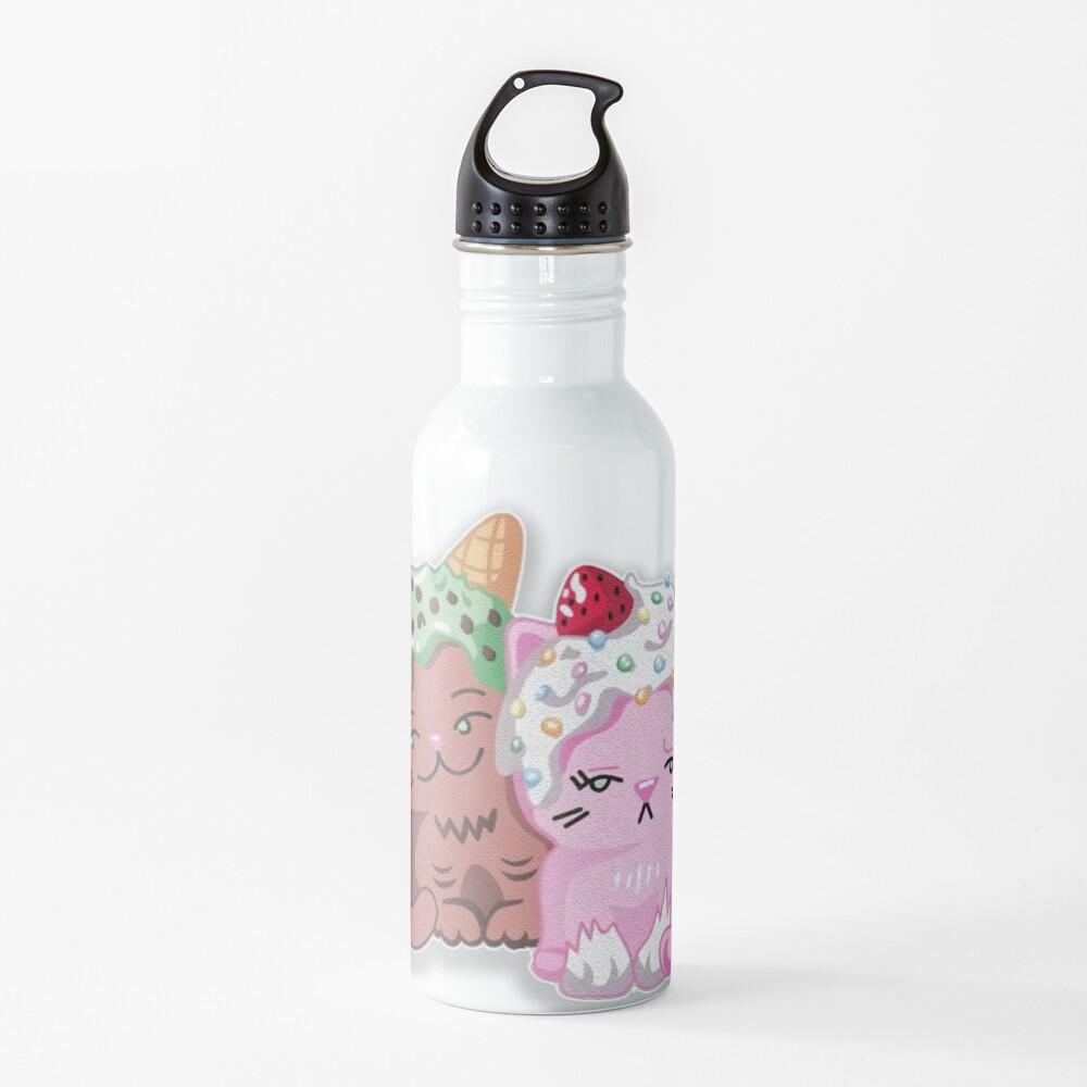 Moriah elizabeth cute ice cream cats Water Bottle