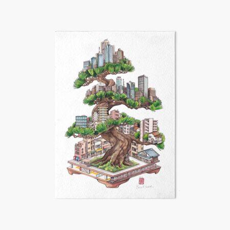 Bonsai Pine Art Board Print