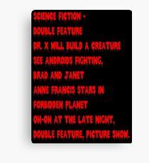 Science Fiction-Double Feature Canvas Print