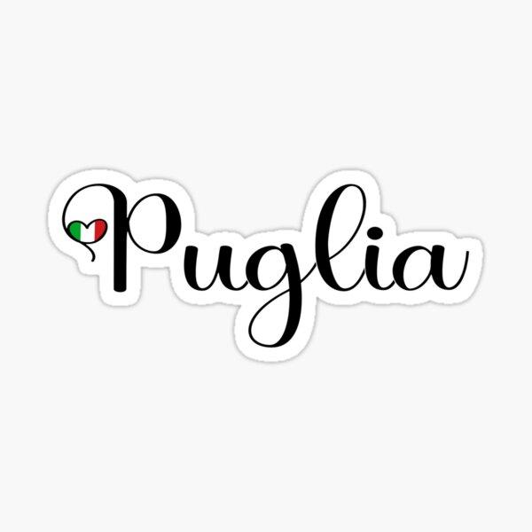 Puglia With Italian Heart - I Love Puglia Italy  Sticker