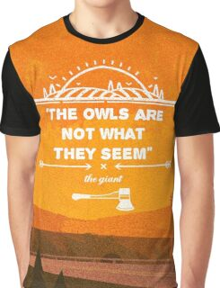 Twin Peaks - The Owls Are Not What They Seem Graphic T-Shirt