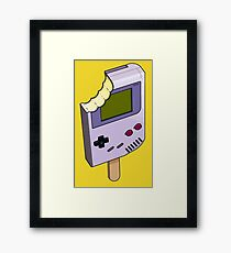 Game Boy Ice Cream Framed Print