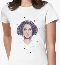 Girl with purple hair braid Womens Fitted T-Shirt