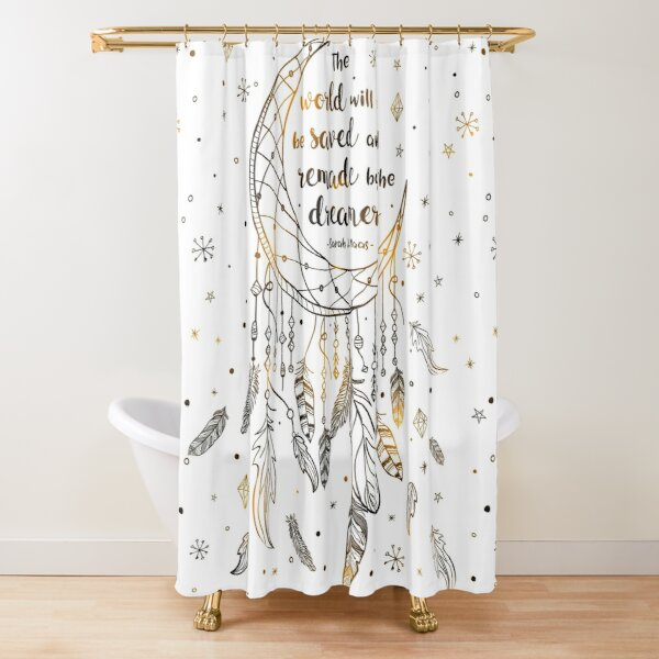 The world will be saved Shower Curtain