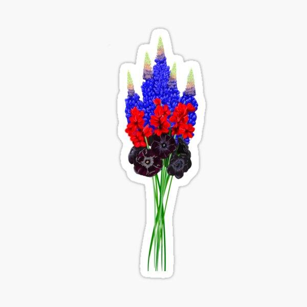 Polyamorous subtle pride flowers   Sticker
