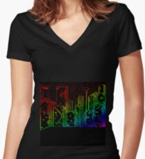 Suburb Women's Fitted V-Neck T-Shirt