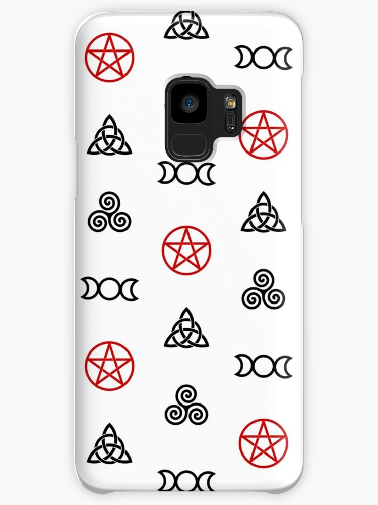 Wiccan Symbols On White Cases Skins For Samsung Galaxy By